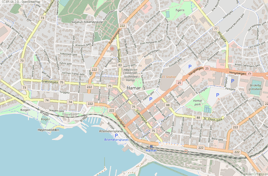 Hamar Norway Map