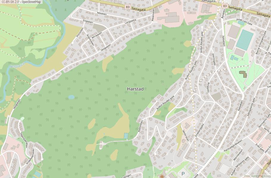 Harstad Norway Map