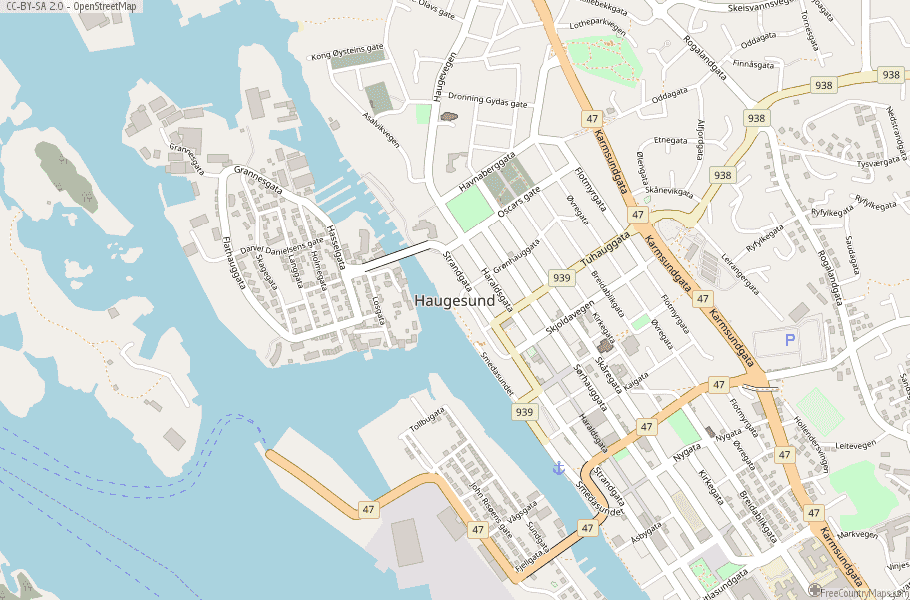 Haugesund Norway Map