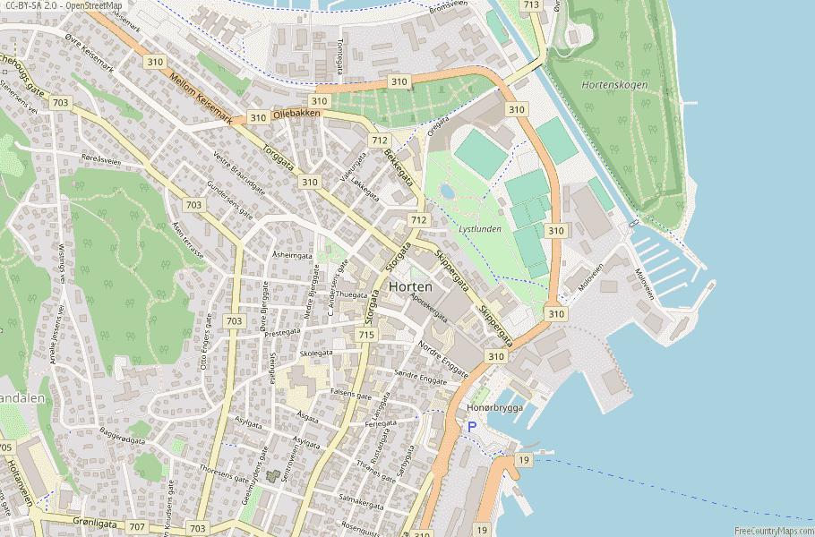 Horten Norway Map