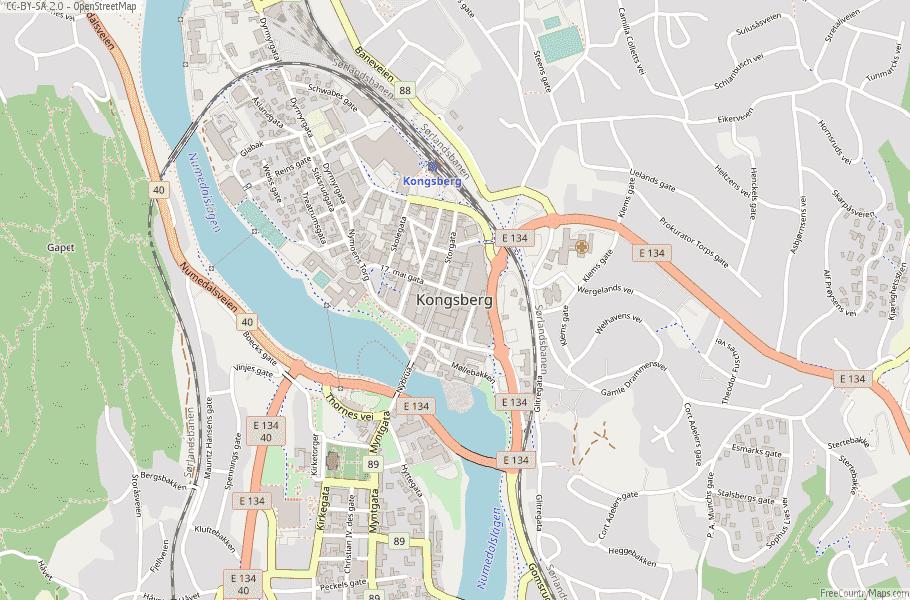 Kongsberg Norway Map