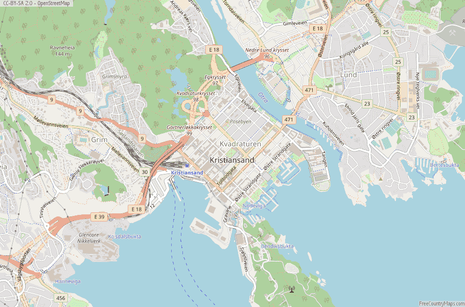 Kristiansand Norway Map