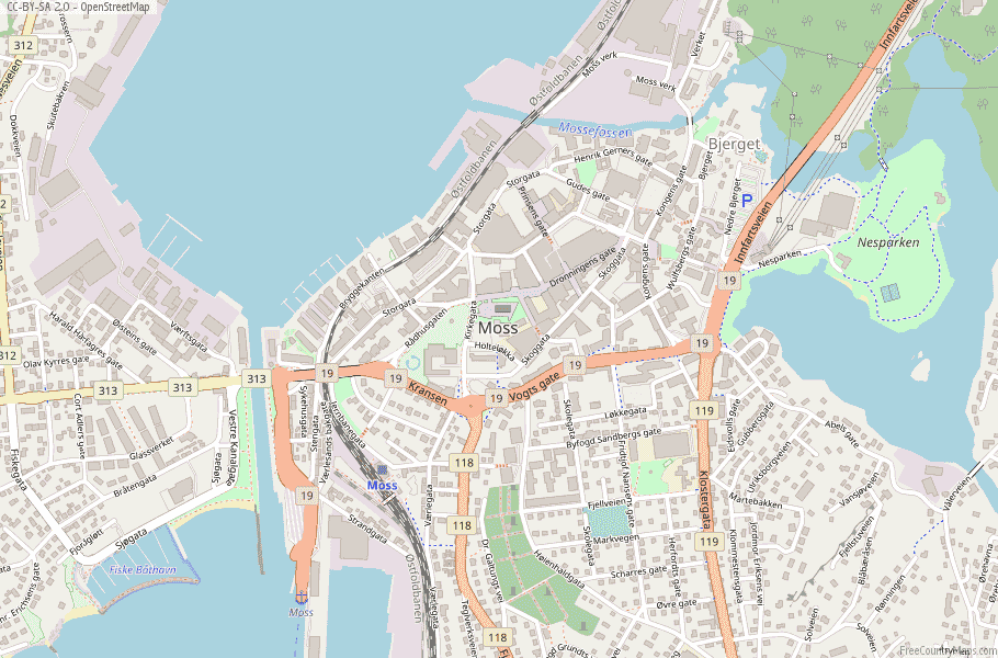 Moss Norway Map