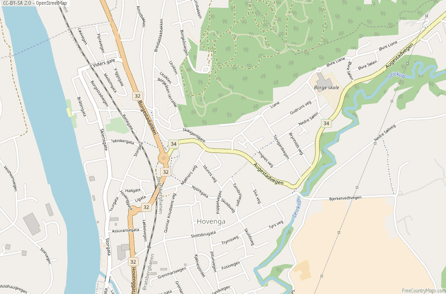 Porsgrunn Norway Map