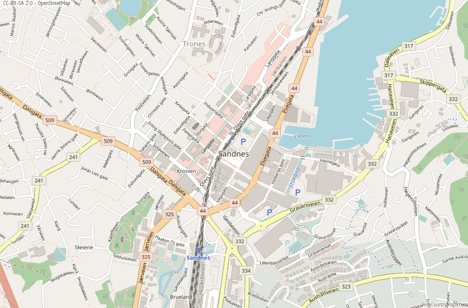 Sandnes Norway Map