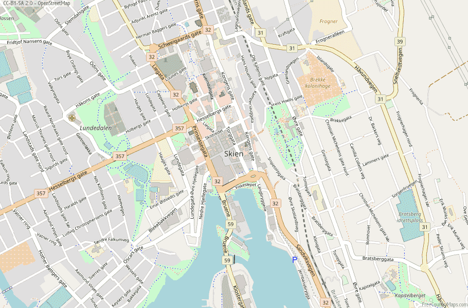 Skien Norway Map