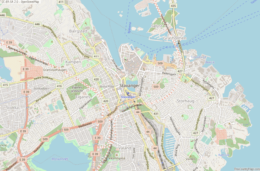 Stavanger Norway Map