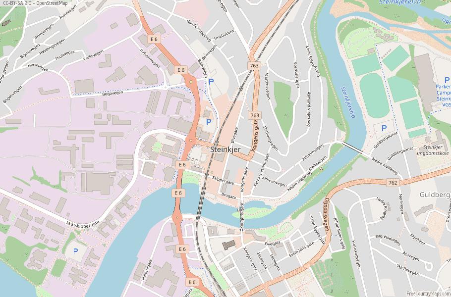 Steinkjer Norway Map