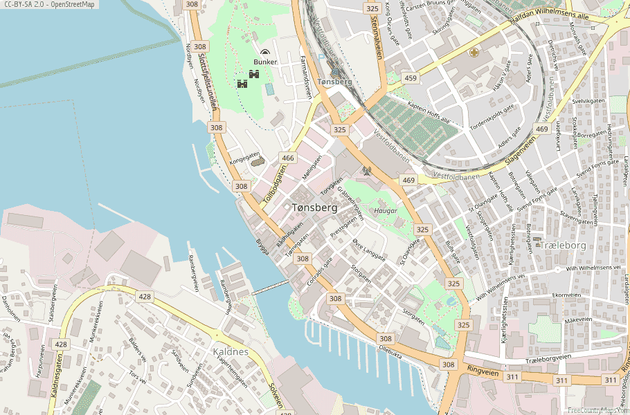 Tønsberg Norway Map