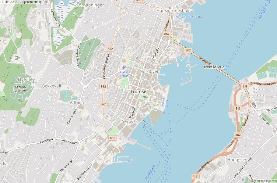 Tromsø Norway Map