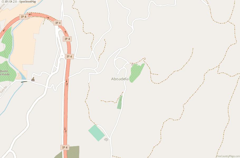 Aboadela Portugal Map