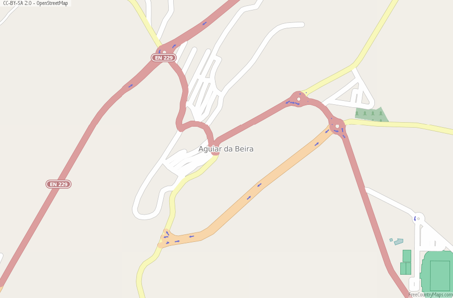 Aguiar da Beira Portugal Map