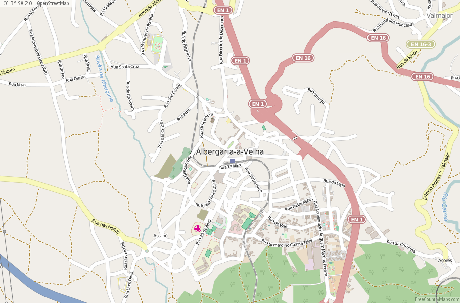 Albergaria-a-Velha Portugal Map