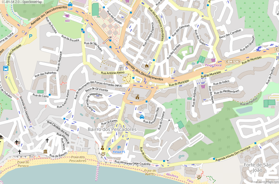 Albufeira Portugal Map