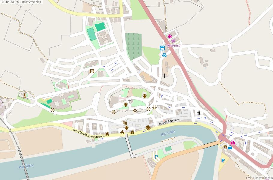 Alcácer do Sal Portugal Map