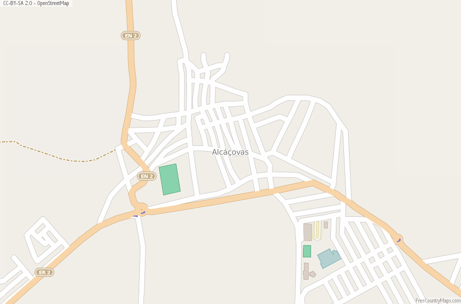 Alcáçovas Portugal Map