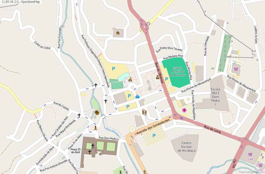 Alcobaça Portugal Map