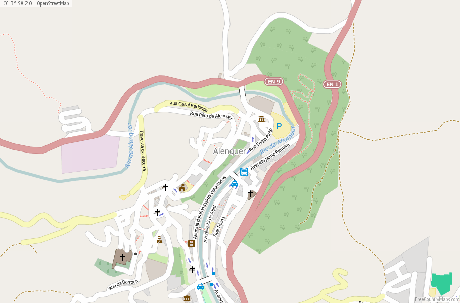 Alenquer Portugal Map
