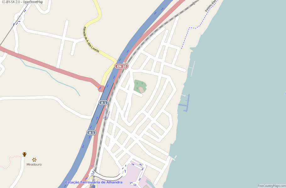 Alhandra Portugal Map