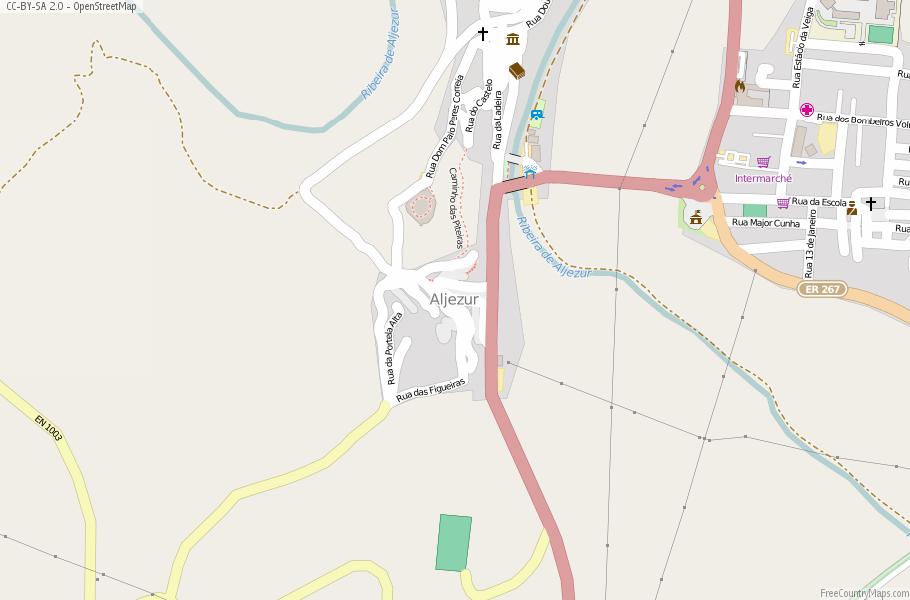 Aljezur Portugal Map
