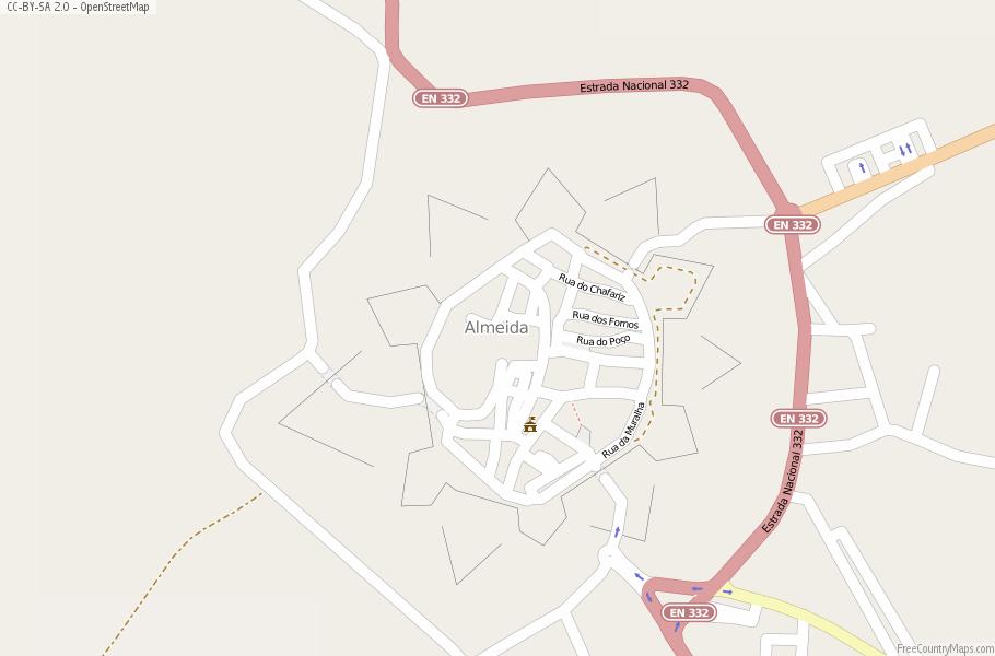 Almeida Portugal Map