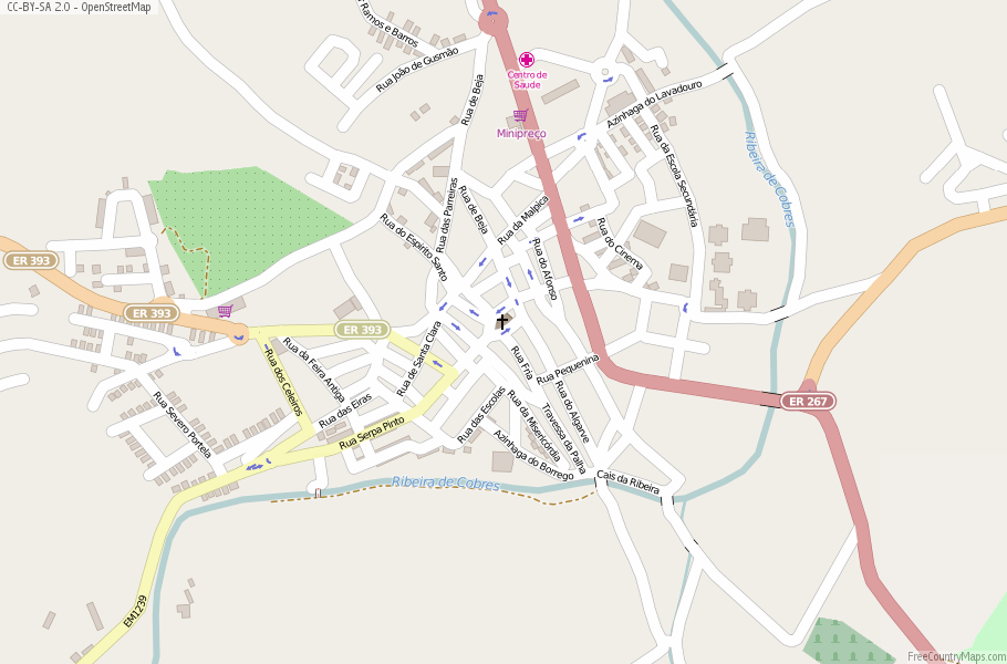 Almodôvar Portugal Map