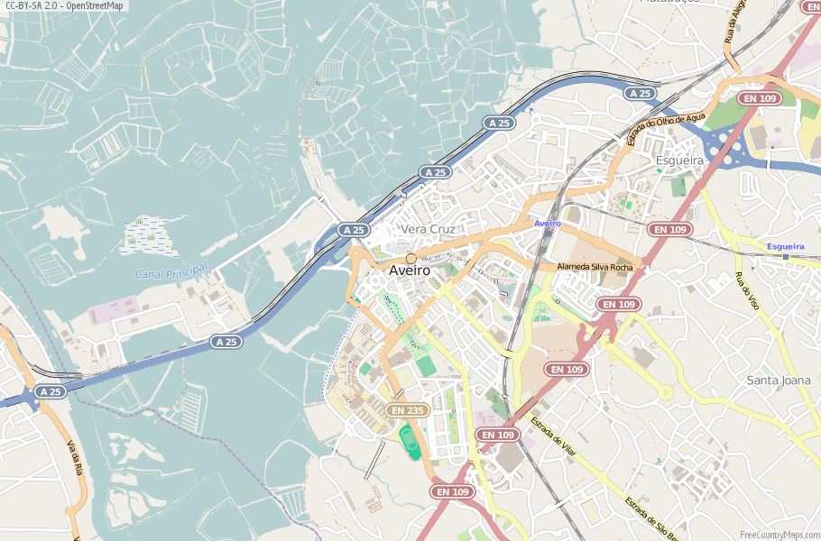 Aveiro Portugal Map