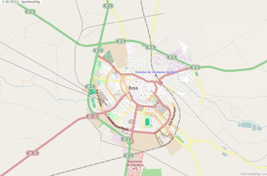 Beja Portugal Map