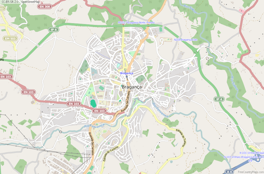 Bragança Portugal Map