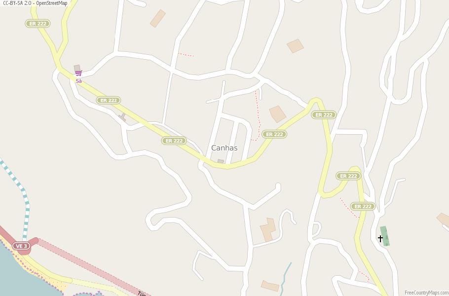 Canhas Map Portugal Latitude Longitude Free Portugal Maps - Portugal map longitude