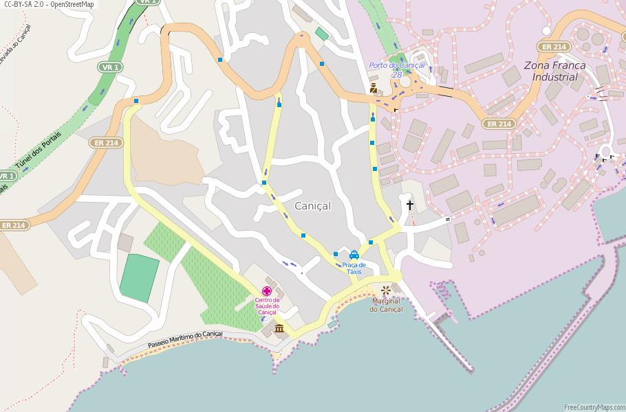 Caniçal Map Portugal Latitude Longitude Free Portugal Maps - Portugal map longitude