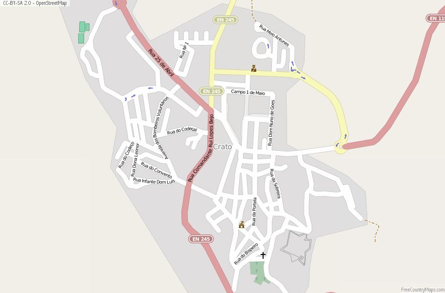 Crato Map Portugal Latitude Longitude Free Portugal Maps - Crato map