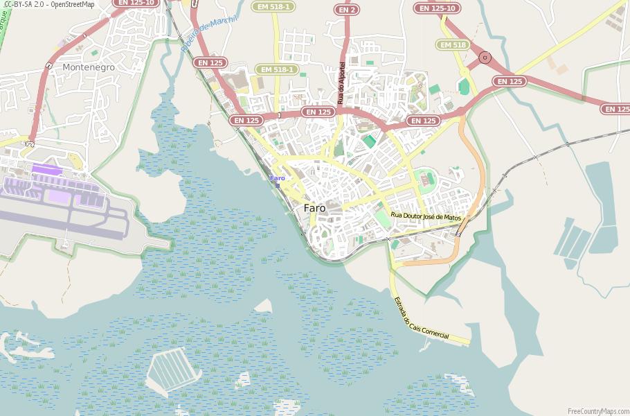 Faro Portugal Map