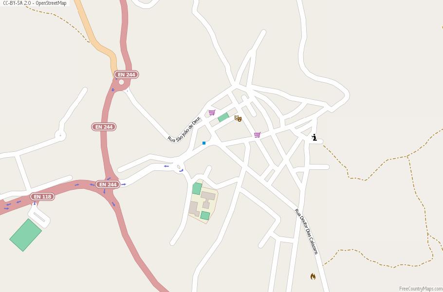 Gavião Map Portugal Latitude Longitude Free Portugal Maps - Portugal map longitude