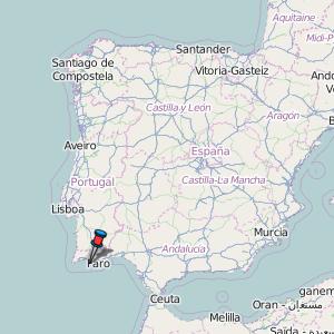 Carvoeiro Map Portugal Latitude Longitude Free Portugal Maps - Portugal map carvoeiro