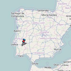 Évora Map Portugal Latitude Longitude Free Portugal Maps - Portugal map viseu