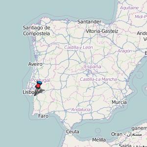 Setbal Map Portugal Latitude Longitude Free Portugal Maps