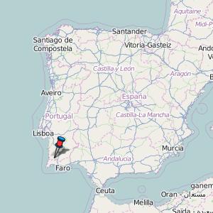 mapa portugal odemira Odemira Map Portugal Latitude & Longitude: Free Maps mapa portugal odemira