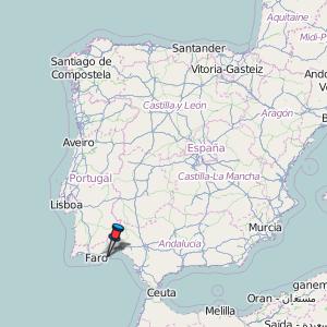 tavira mapa portugal Tavira Map Portugal Latitude & Longitude: Free Maps tavira mapa portugal