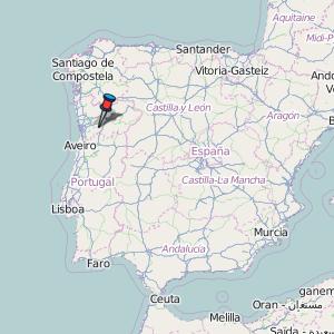 mapa portugal amarante Amarante Map Portugal Latitude & Longitude: Free Maps mapa portugal amarante