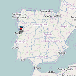 Aveiro Map Portugal Latitude Longitude Free Portugal Maps - Portugal map location