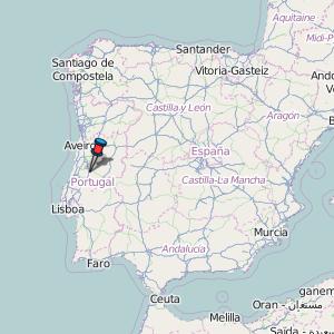 Ansião Map Portugal Latitude Longitude Free Portugal Maps - Portugal map longitude