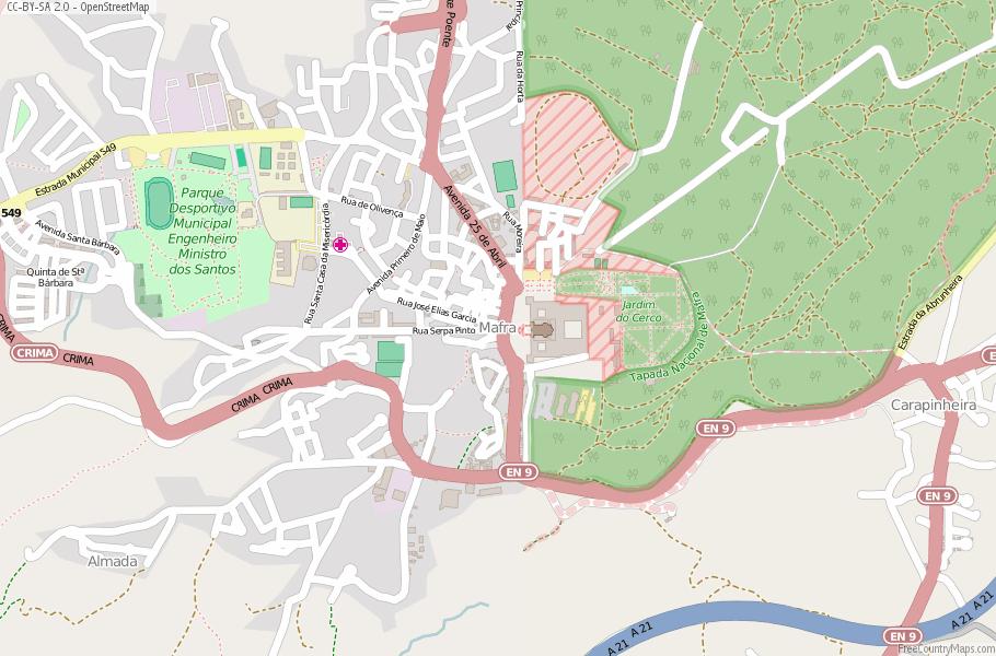 Mafra Portugal Map