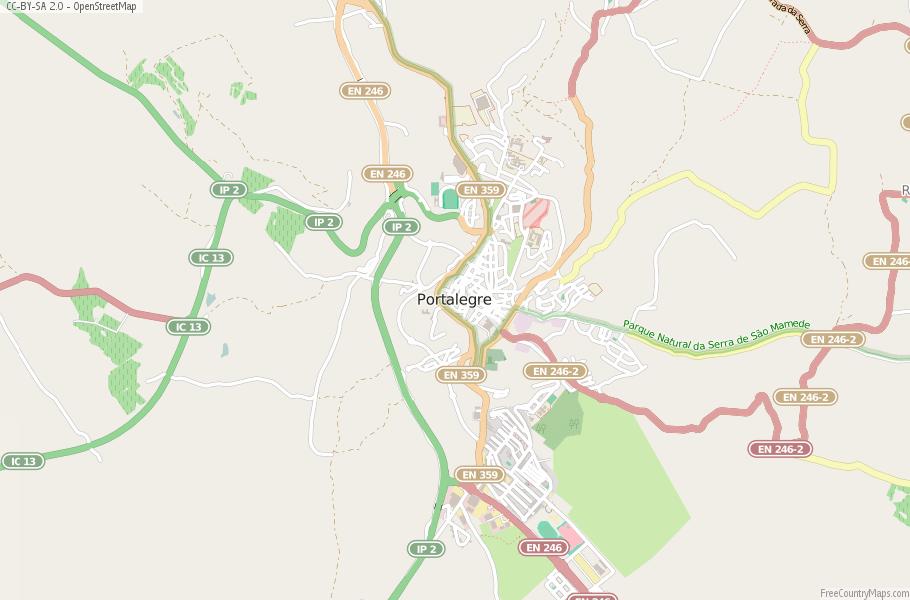 Portalegre Portugal Map