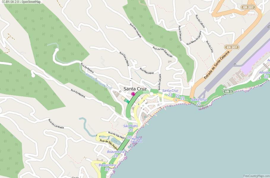 Santa Cruz Portugal Map