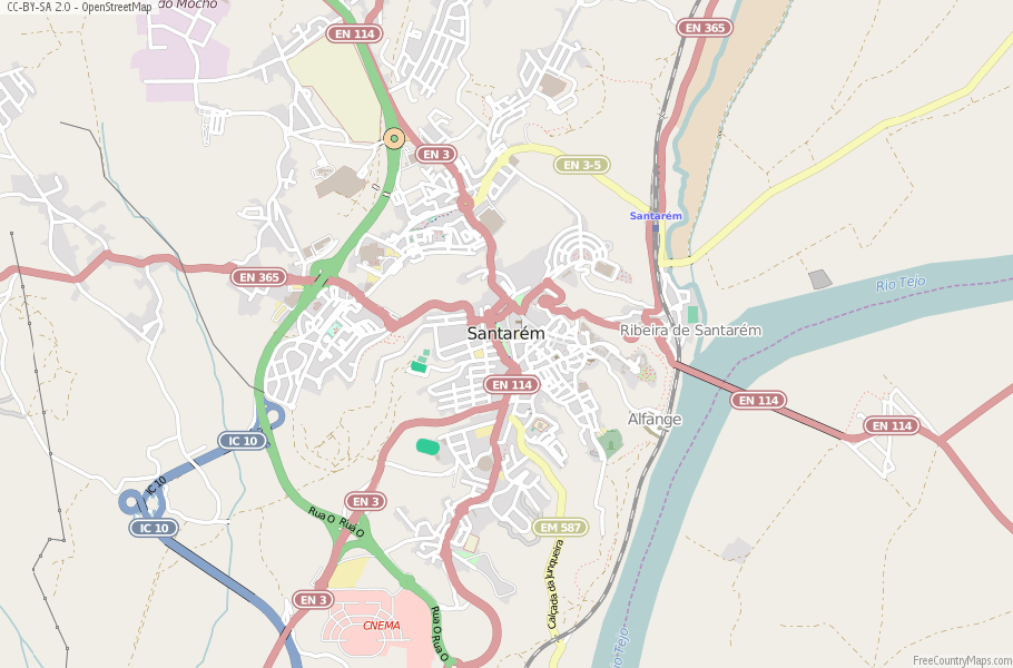 Santarém Portugal Map