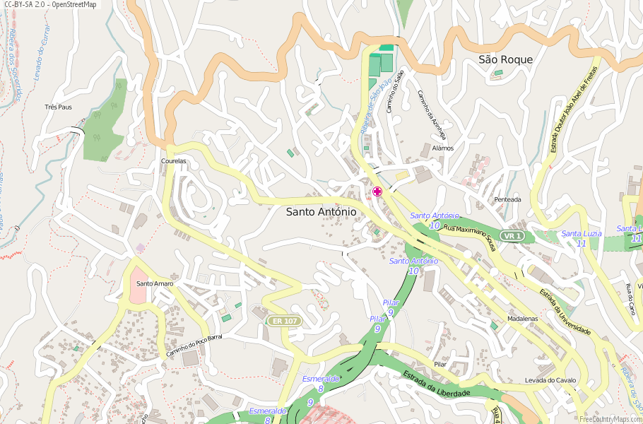 Santo António Portugal Map