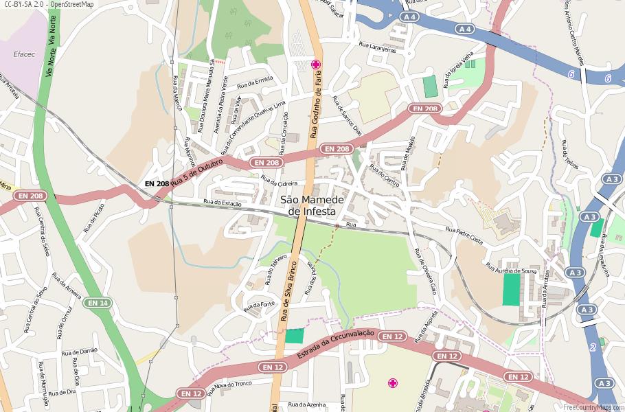 São Mamede de Infesta Portugal Map