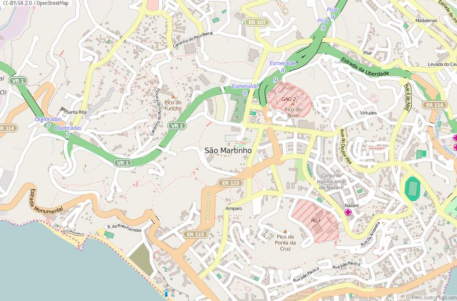 São Martinho Portugal Map