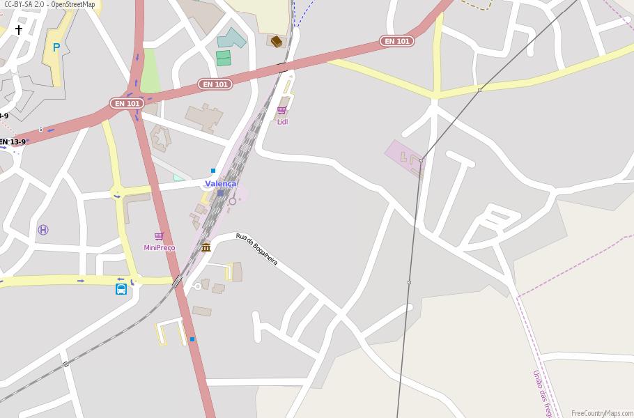 Valença Do Minho Map Portugal Latitude Longitude Free Portugal Maps - Valenca portugal map